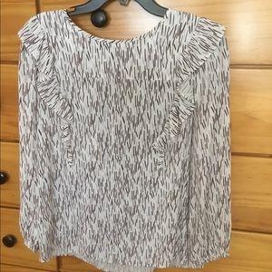 Loft, long sleeve blouse